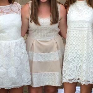 Beige/Lace Graduation Dress